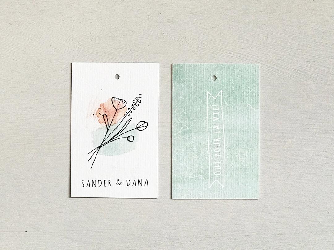 Letters and Lines trouwkaart landelijk
